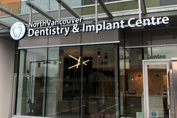 Front entrance for our Apple Dental Implant Centre in North Vancouver